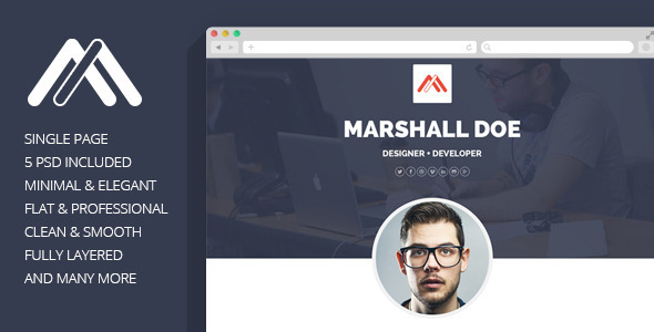 MD – Resume PSD Template
