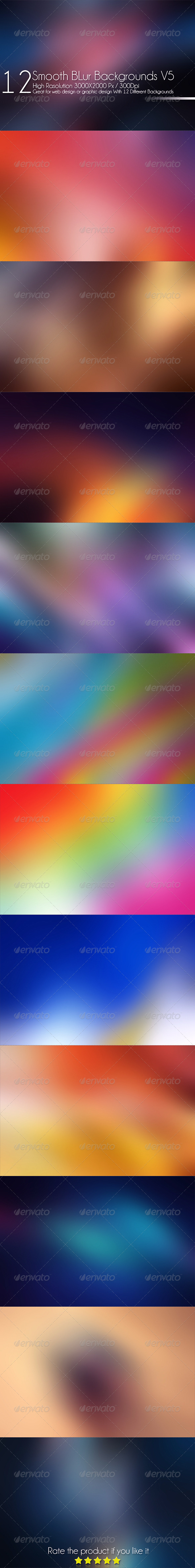 12 Smooth Blur Background V5 - Abstract Backgrounds