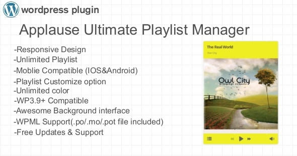Applause Ultimate Playlist Manager WP Plugin - CodeCanyon Item for Sale