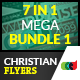 7 in 1 Christian Celebration Flyers Mega Bundle 1 - GraphicRiver Item for Sale