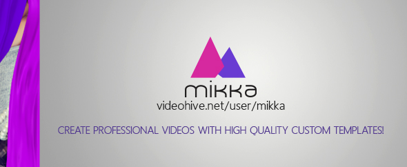 Mikka create professional videos with high quality custom templates