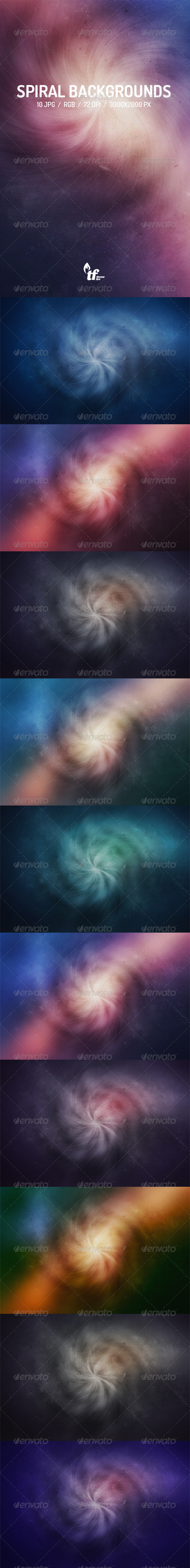 Spiral Backgrounds - Abstract Backgrounds