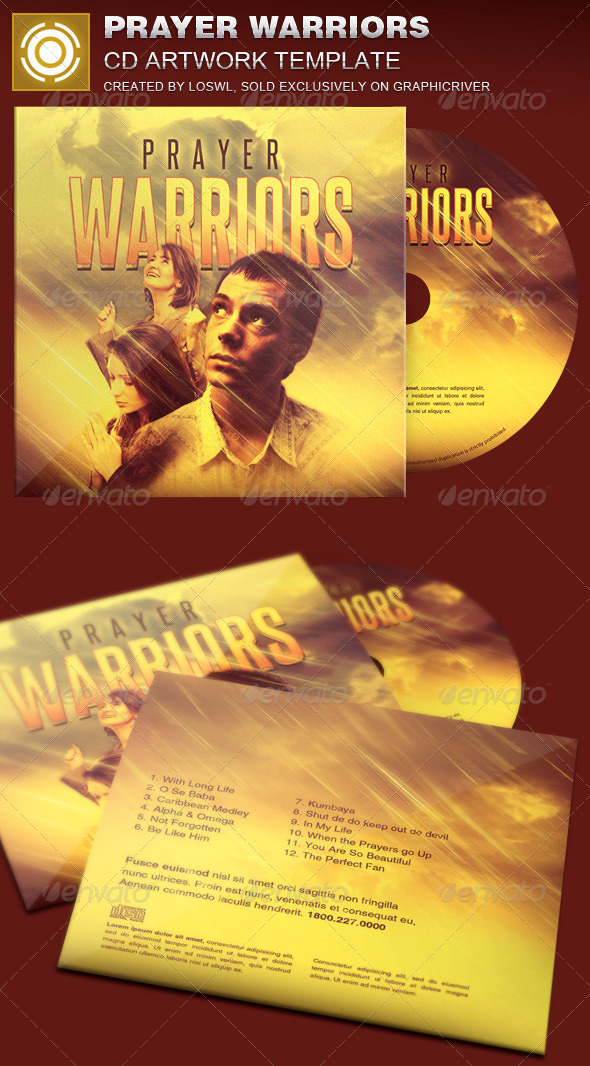 Prayer Warriors CD Artwork Template - CD & DVD Artwork Print Templates