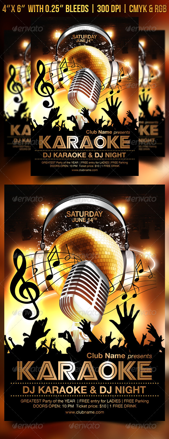 Karaoke Flyer Template By Gugulanul Graphicriver