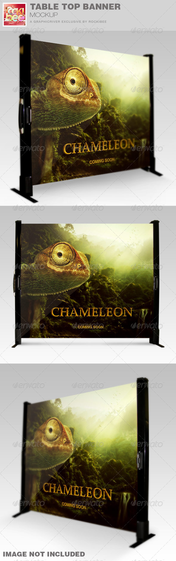 Table Top Banner Mockup Template - Signage Print