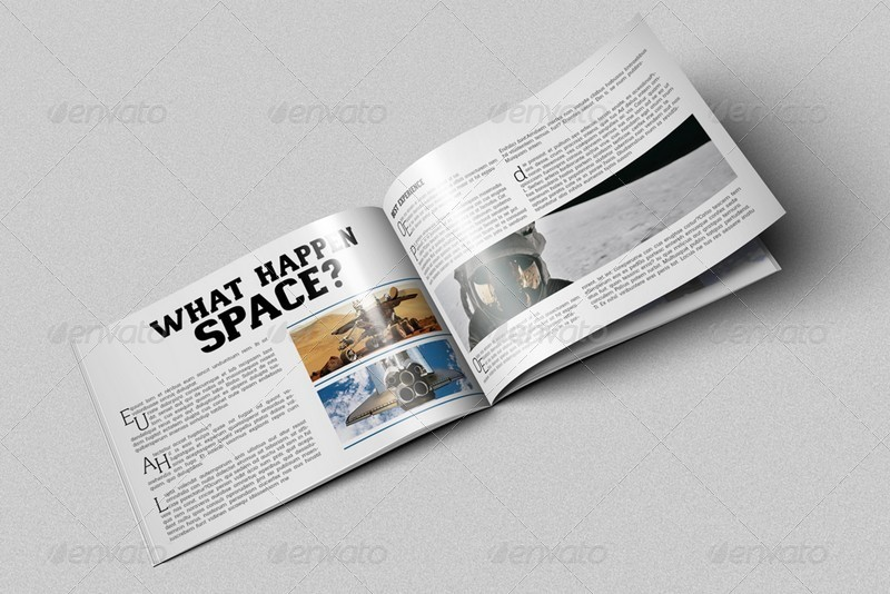 A4 Horizontal Brochure Mockups by kongkow | GraphicRiver