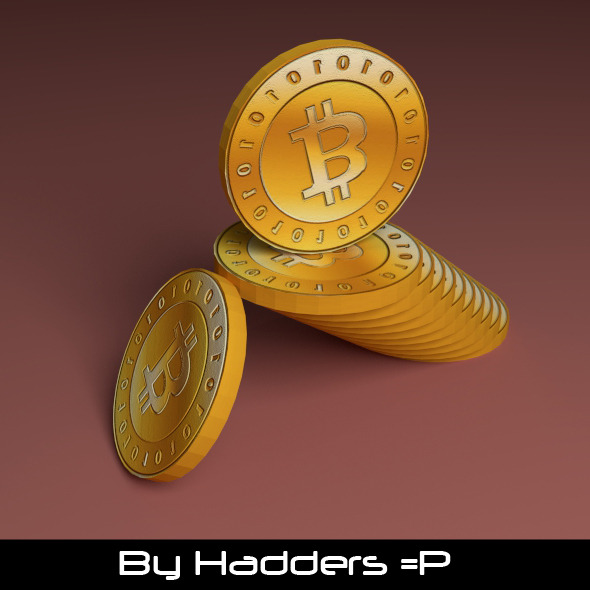 3D Bitcoin stacked - 3DOcean Item for Sale