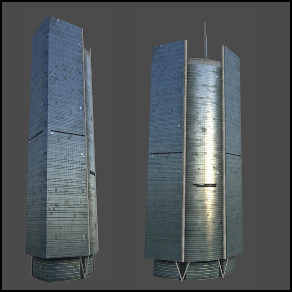 Glasspalace background building - 3DOcean Item for Sale