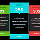 Minimalist pricing tables - GraphicRiver Item for Sale