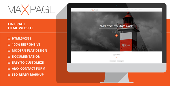 Maxpage - One Page HTML5 Template - Creative Site Templates