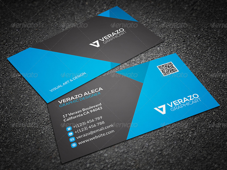 Modern & Stylish Business Card 34 by verazo | GraphicRiver