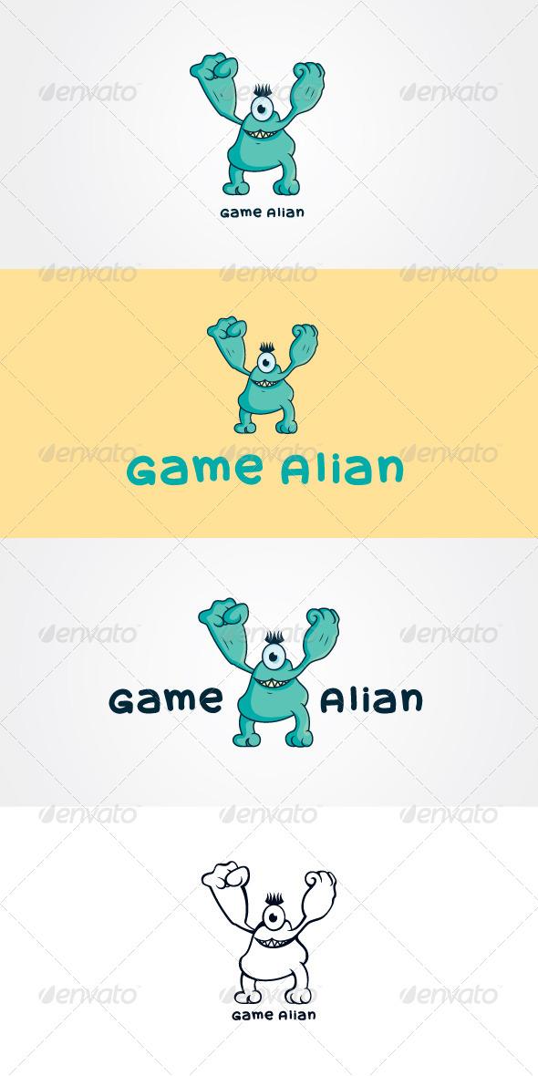 Game Alian Stock Logo Template