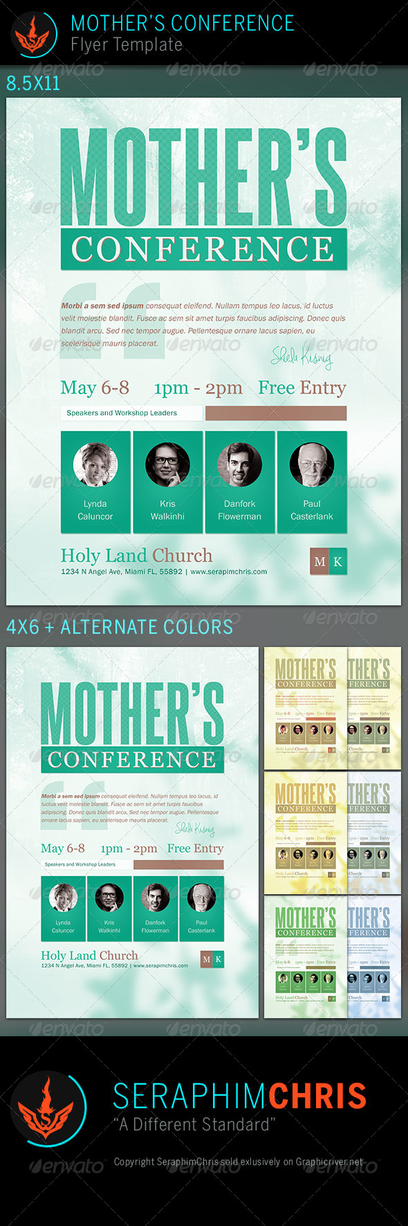 Mother's Conference: Church Flyer Template by SeraphimChris ...