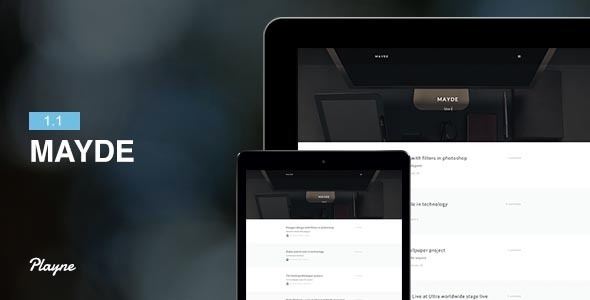Mayde - Refreshing Blogging Theme - Personal Blog / Magazine