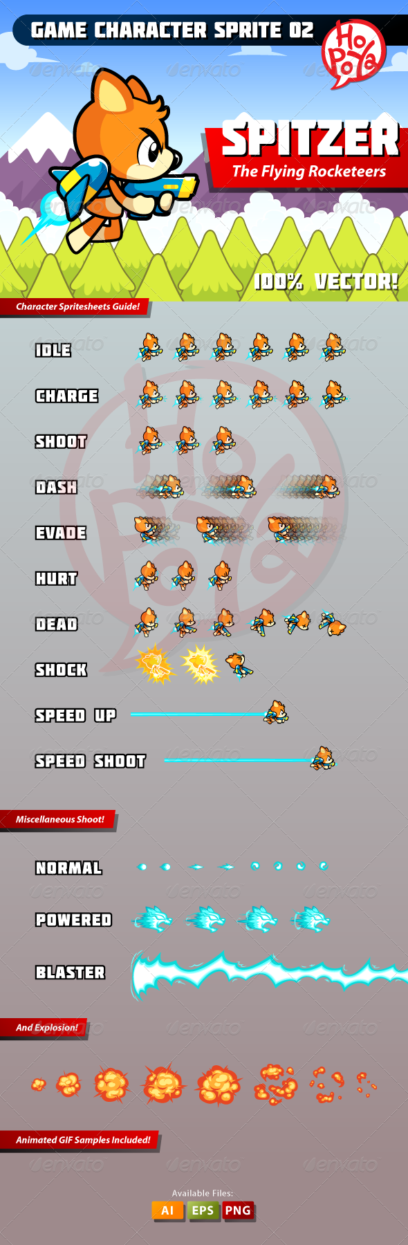 Game Character Sprite 02 - Animals Characters