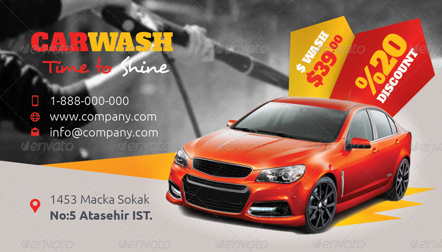 car wash business card templates - Car Wash Business Cards