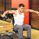 Muscular Man Exercising at the Gym - VideoHive Item for Sale