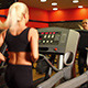 Sexy Blond Woman Running on Track - VideoHive Item for Sale