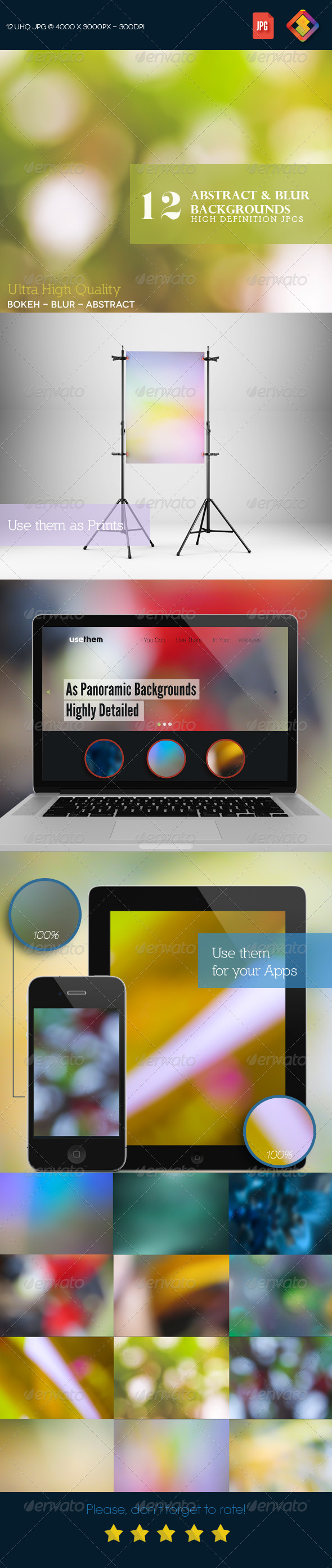 12HD Abstract & Blur Backgrounds V5 - Abstract Backgrounds