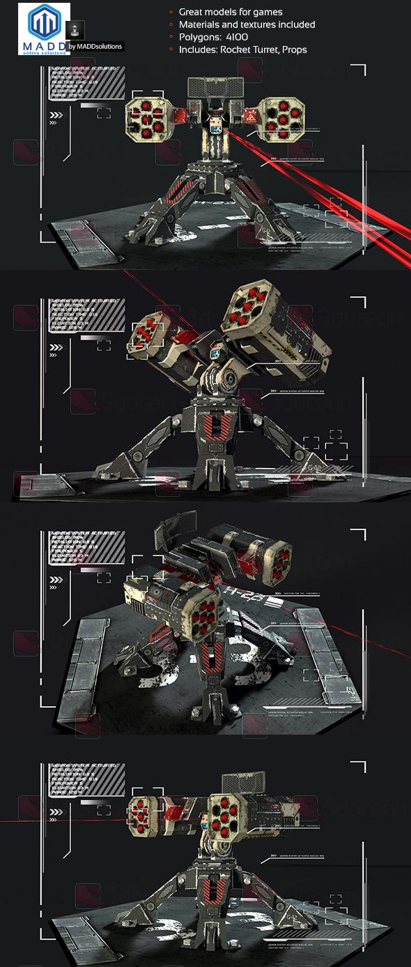 Rocket Turret - 3DOcean Item for Sale