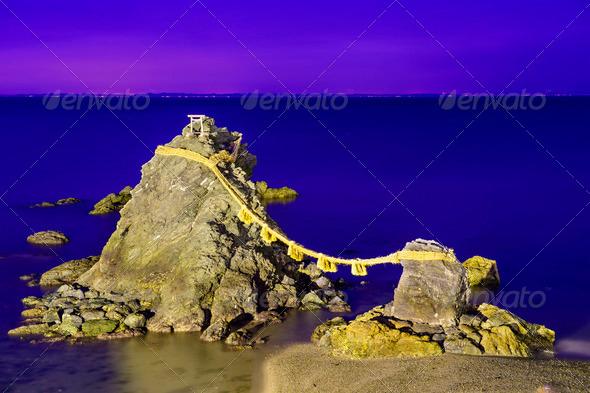 Meoto Iwa Rocks - Stock Photo - Images