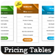 Clean Pricing Tables - GraphicRiver Item for Sale