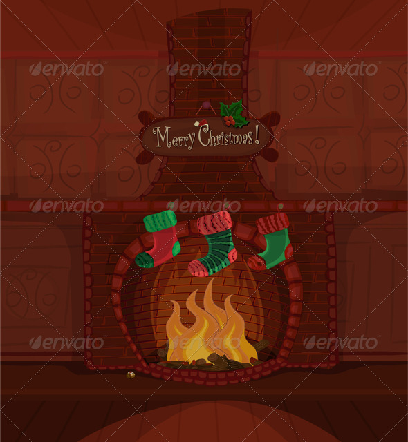 Christmas vector scene - Christmas Seasons/Holidays
