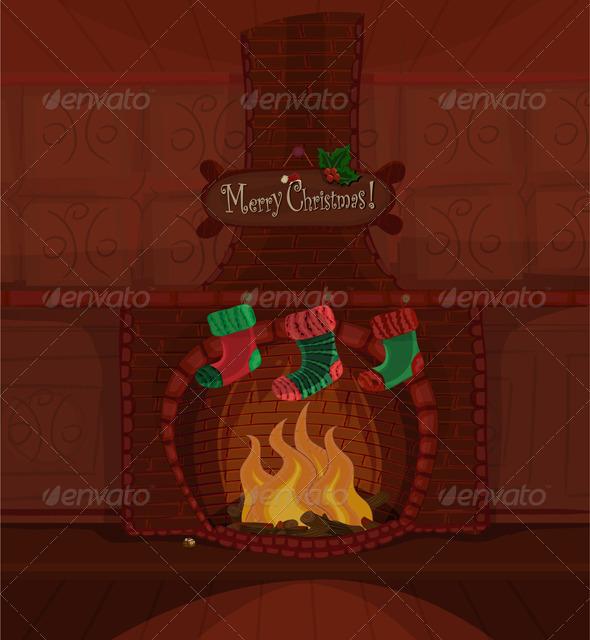 Christmas vector scene - Christmas Seasons/Holidays