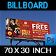 Burger Restaurant Billboard Template Vol.4 - GraphicRiver Item for Sale