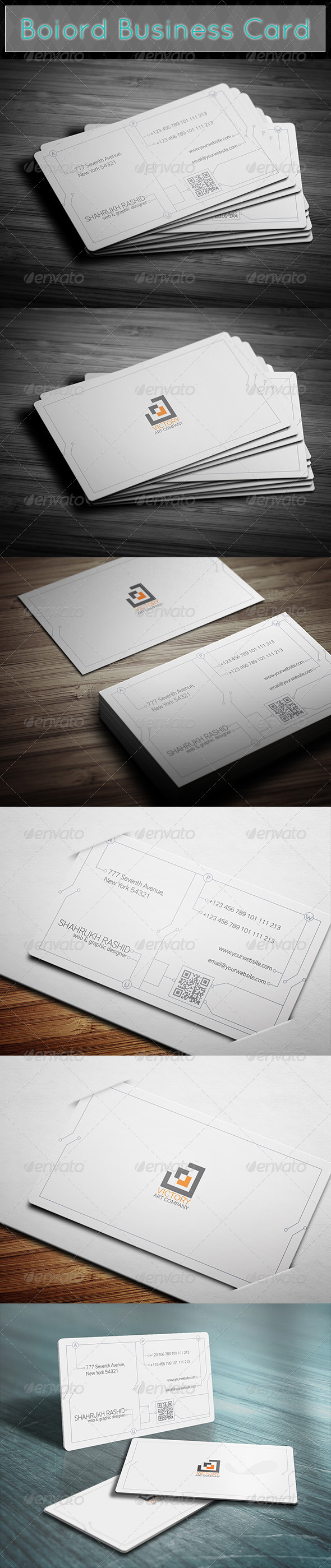 Boiord Business Card - Real Objects Business Cards
