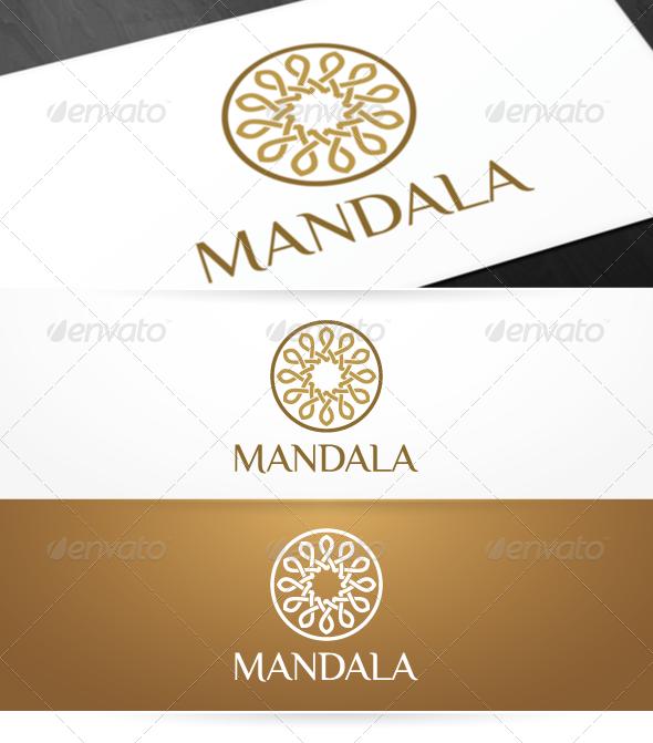 Mandala - Yoga Logo Template - Symbols Logo Templates