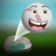Cartoon Baseball Flying High Out of the Park - GraphicRiver Item for Sale