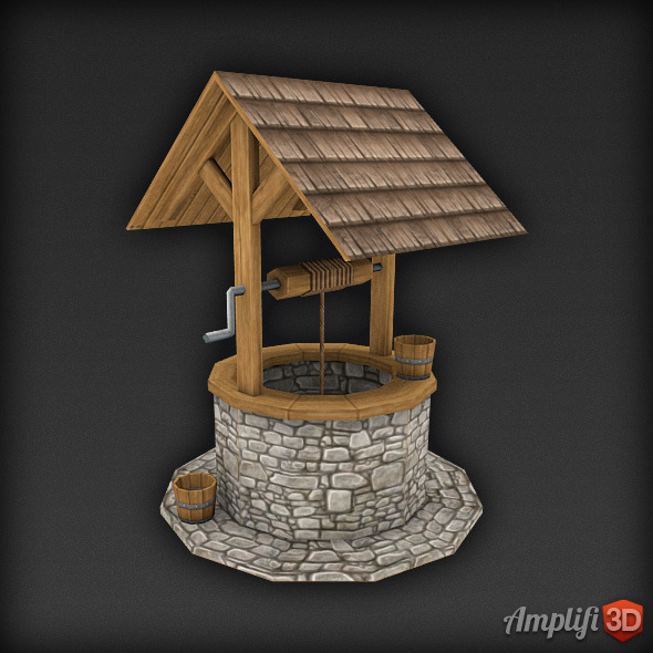 Low Poly Well - 3DOcean Item for Sale