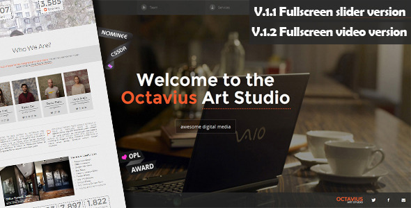 Octavius - Responsive One Page Template - Creative Site Templates