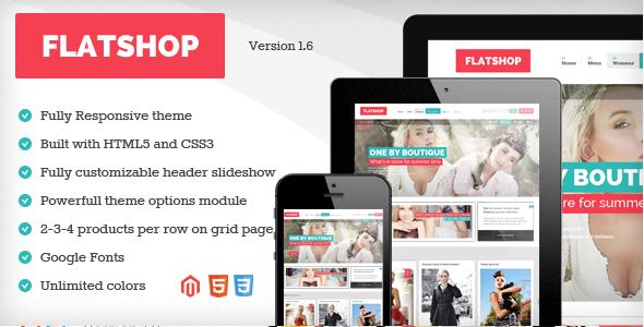 Flatshop – Responsive Magento Theme
