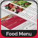 Bi-Fold Food Menu Template   2 - GraphicRiver Item for Sale