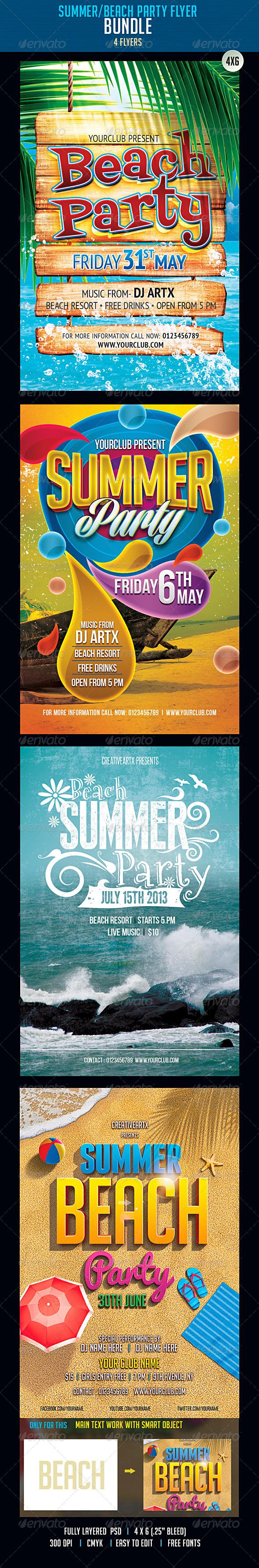 Summer-Beach Flyer Bundle