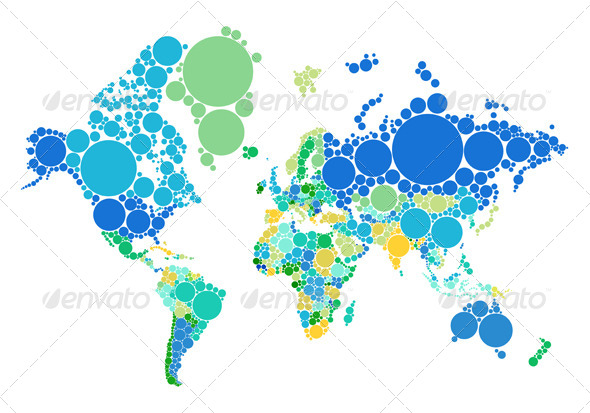 Abstract dot world map with countries by amourfou graphicriver abstract dot world map with countries business conceptual gumiabroncs