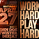 Work Hard Play Hard Party Flyer Template - GraphicRiver Item for Sale