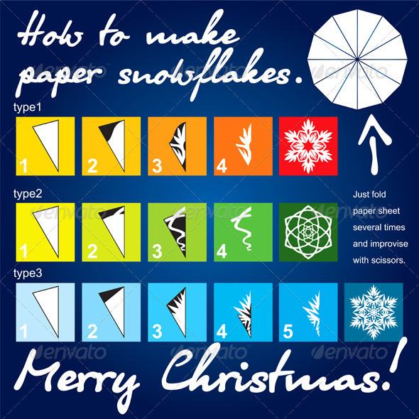 How to make paper snowflakes tutorial - Christmas Seasons/Holidays
