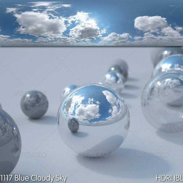 HDRI IBL 1117 Blue Cloudy Sky - 3DOcean Item for Sale