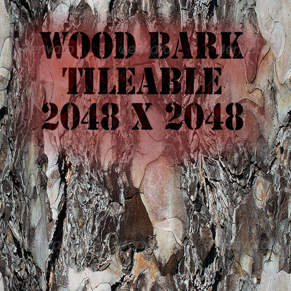 Tileable Wood Bark Texture - 3DOcean Item for Sale