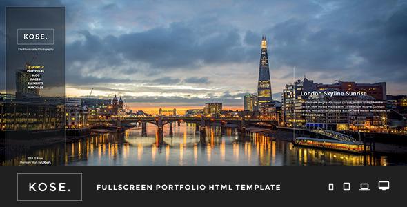 Kose - Fullscreen Portfolio HTML Template - Portfolio Creative