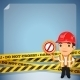 Foreman with Danger Tapes - GraphicRiver Item for Sale
