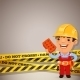 Builder With Danger Tapes - GraphicRiver Item for Sale