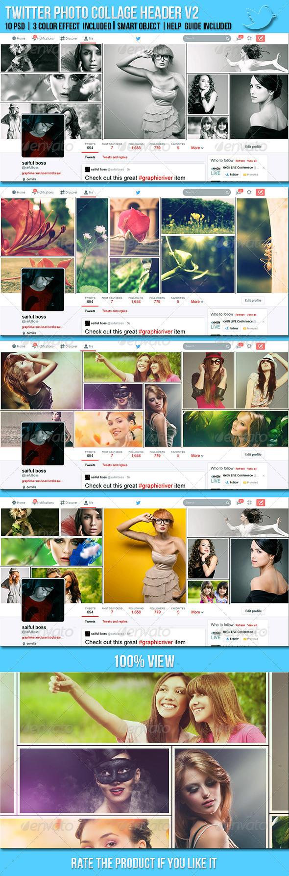 Twitter Photo Collage Header V2 - Twitter Social Media