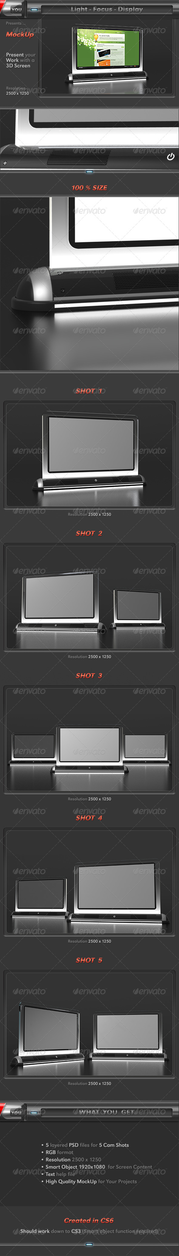 Light Focus Display Screen Mock-Up - Miscellaneous Displays