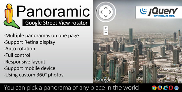 Panoramic - Street View Rotator jQuery Plugin - CodeCanyon Item for Sale