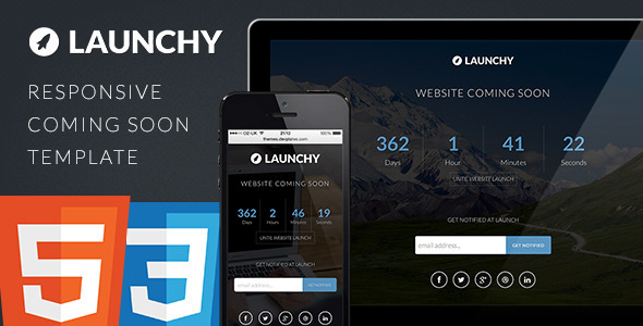 Launchy – Responsive Coming Soon Template