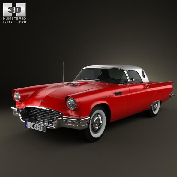Ford Thunderbird 1957 - 3DOcean Item for Sale